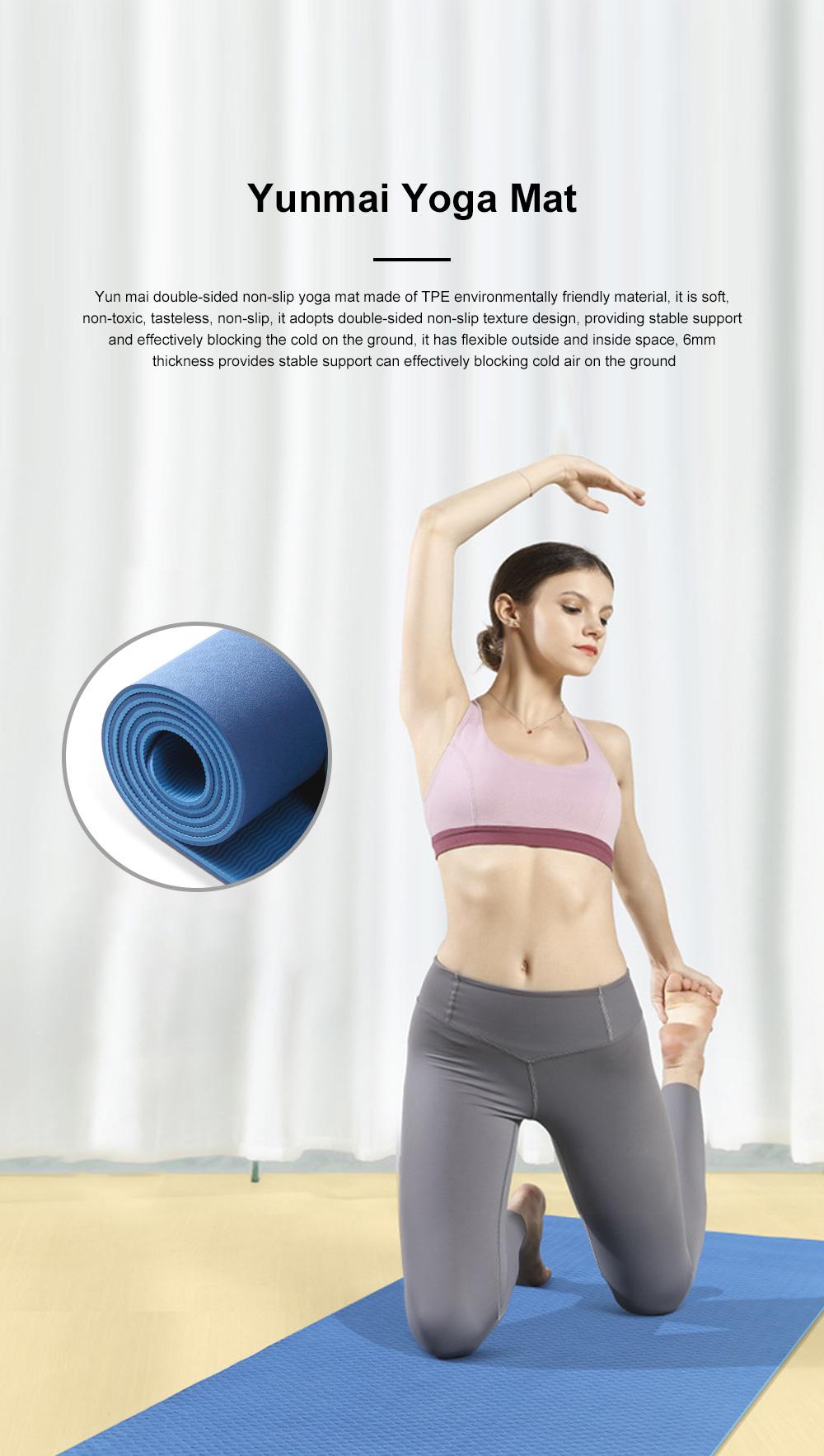 Yunmai Sport Yoga Mat Eco Friendly Durable Yoga Mat Thick Fitness Foldable Travel Exercise Non Slip Yoga Blanket 0