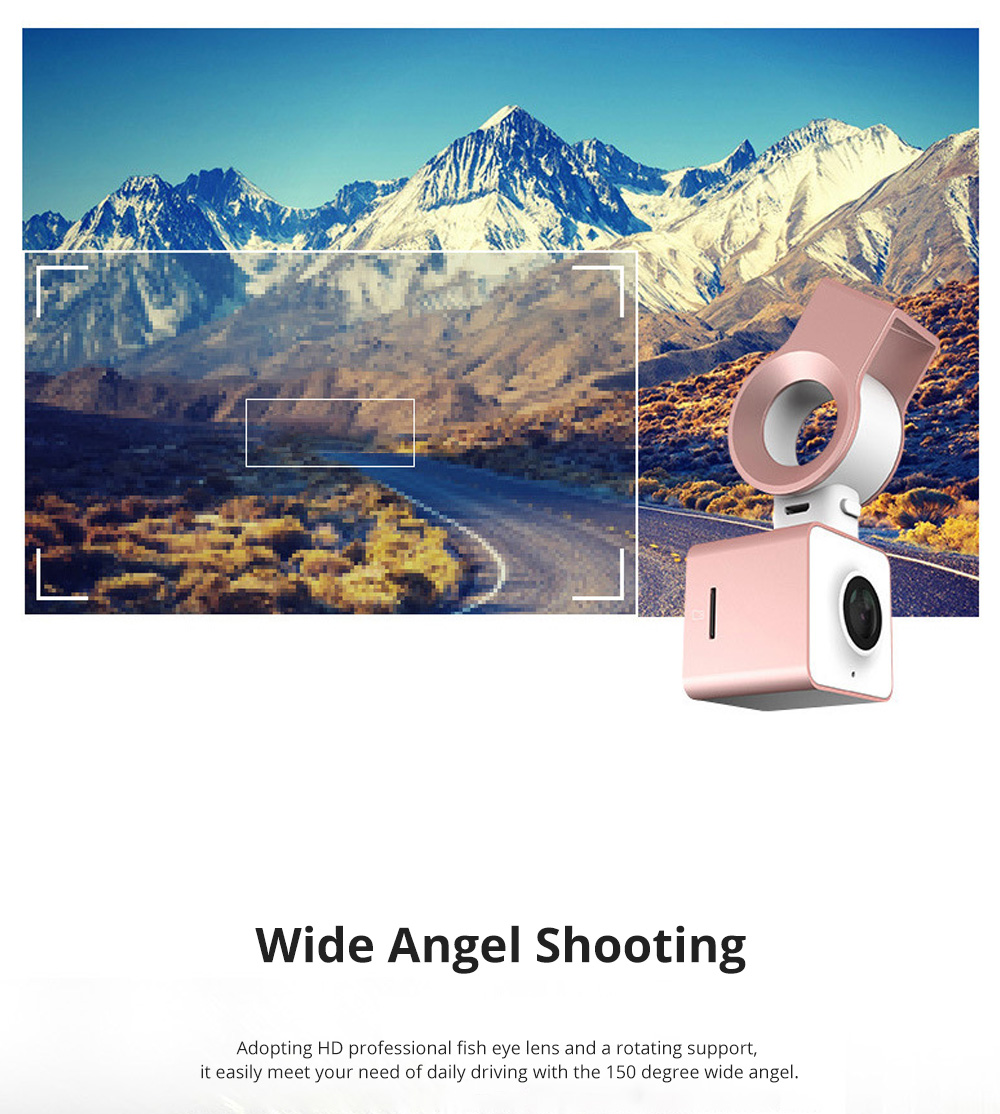 ROCK Multiple Functional Panorama HD 24 Hours Car DVR Smart Night Vision Automobile Data Recorder Monitoring GPS Speed Detection Recorder 5