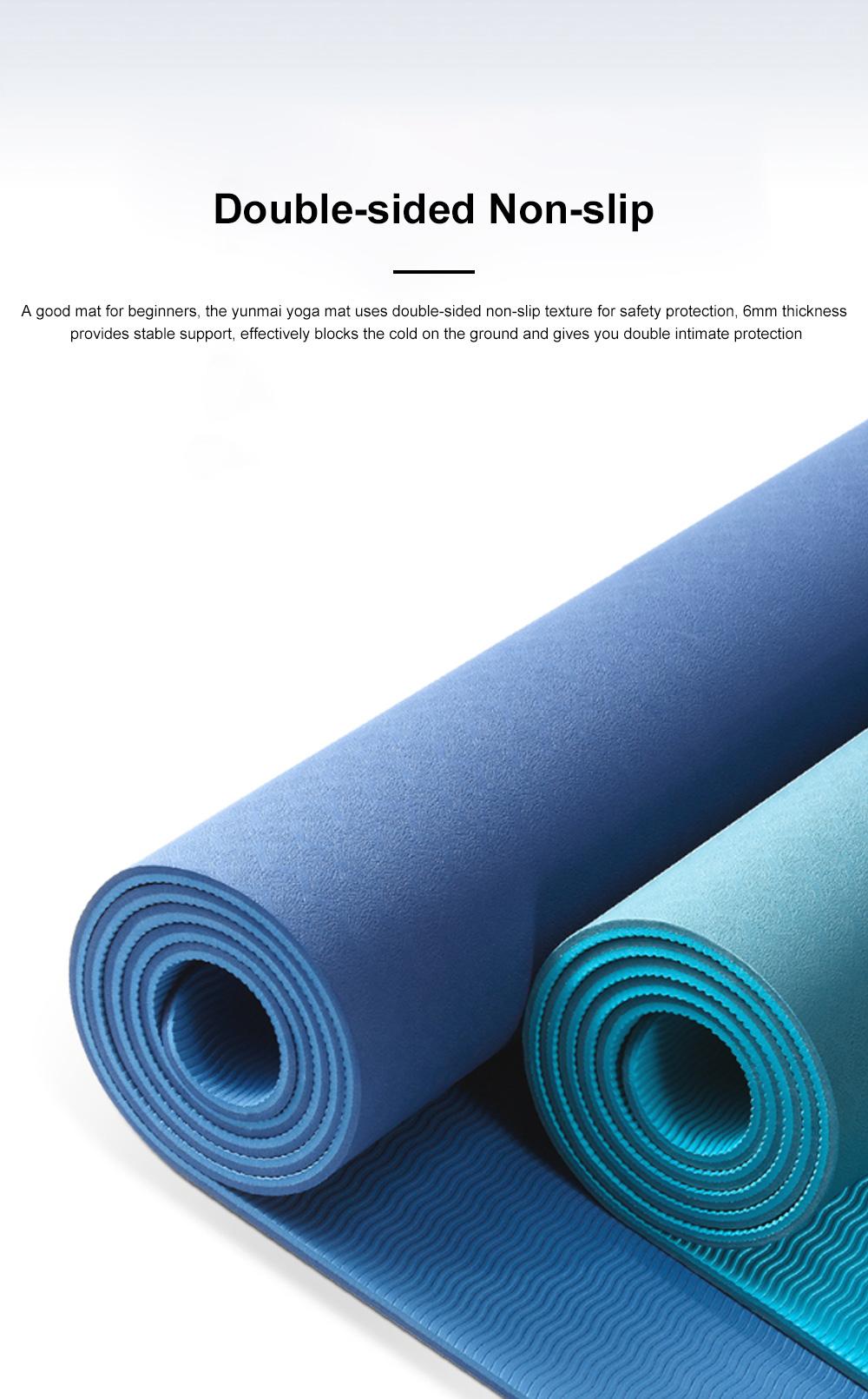 Yunmai Sport Yoga Mat Eco Friendly Durable Yoga Mat Thick Fitness Foldable Travel Exercise Non Slip Yoga Blanket 2
