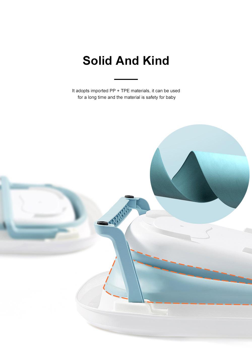 Portable Folding Baby Bath Tub Anti-Slip Bottom Non-Toxic Material Children Bathtub Bucket For Baby within 5 Year Old 3