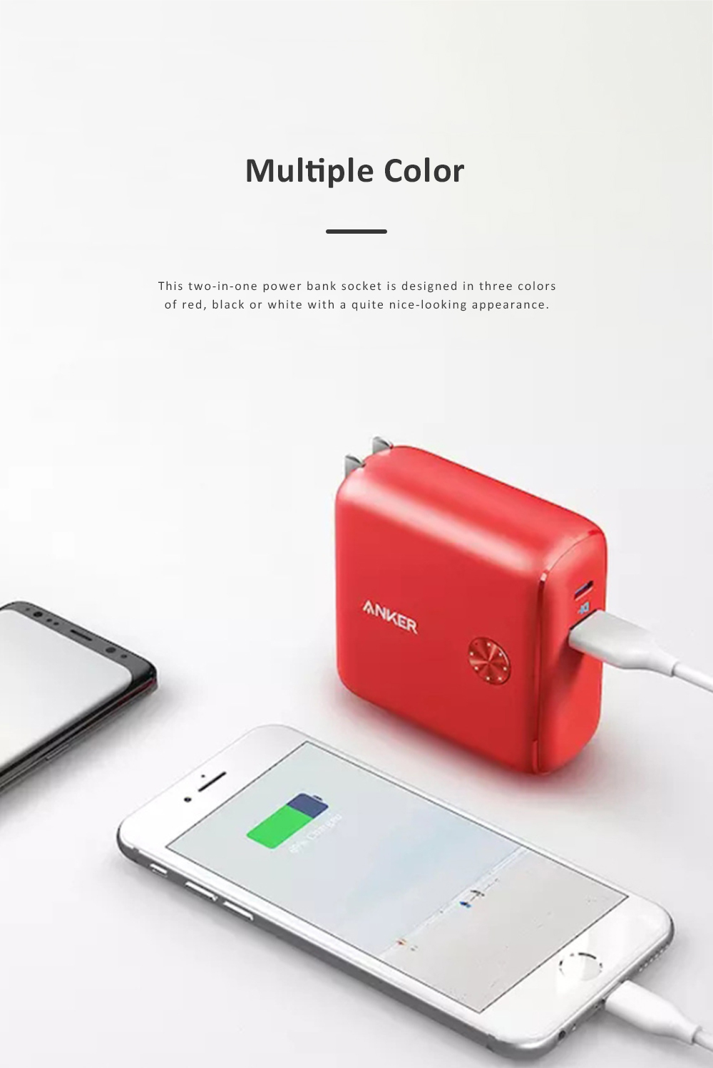 Anker 2 in 1 Power Bank Station Socket for Outdoors Travelling Quick Charge Portable Recharge Switch Power Socket 6