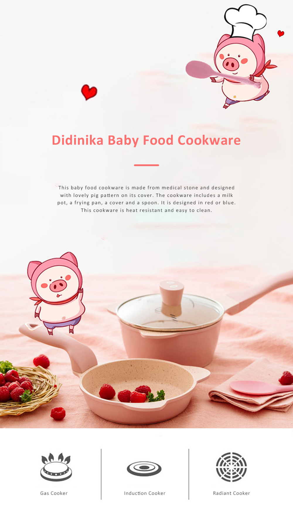 Didinika Cookware for Baby Food Making Multifunctional Non-stick Medical Stone Pot Infant Milk Pan Korean Style Medical Stone Pot 0