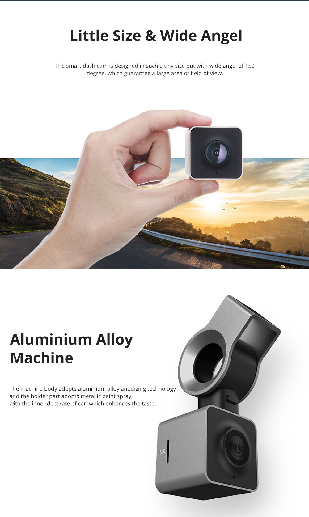 ROCK Multiple Functional Panorama HD 24 Hours Car DVR Smart Night Vision Automobile Data Recorder Monitoring GPS Speed Detection Recorder 1