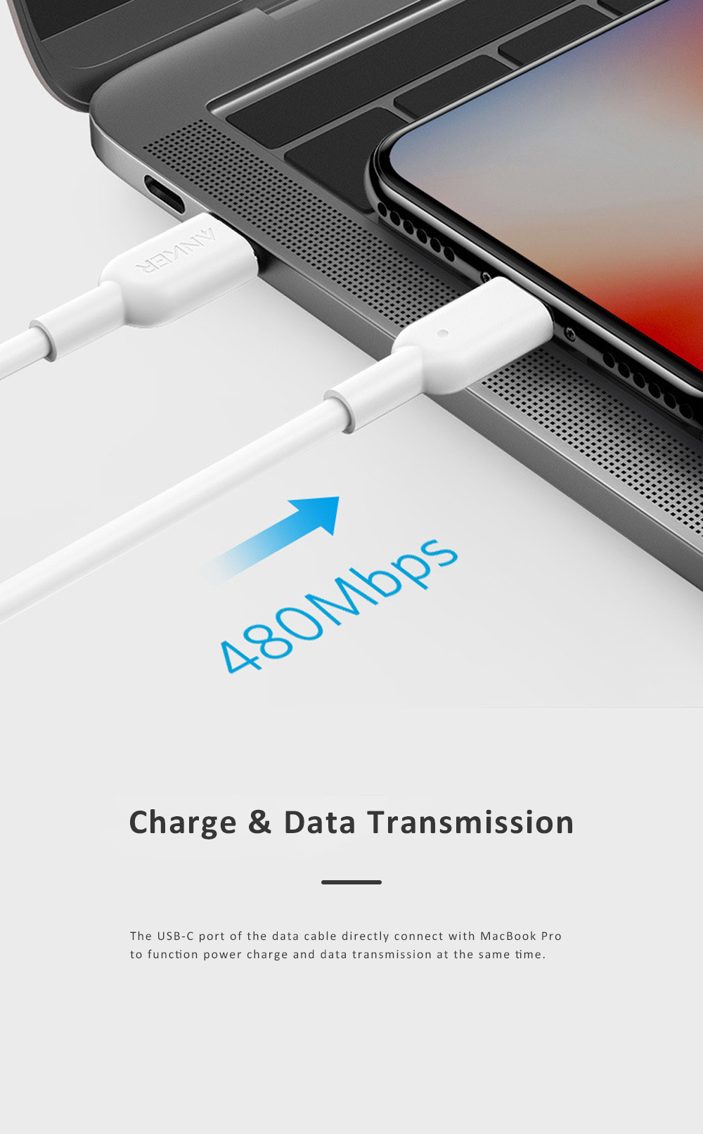Anker Power Line USB-C to Lightning Data Cable PD Quick Charge Cable Compatible for iPhone iPad iPod Official Certified 2