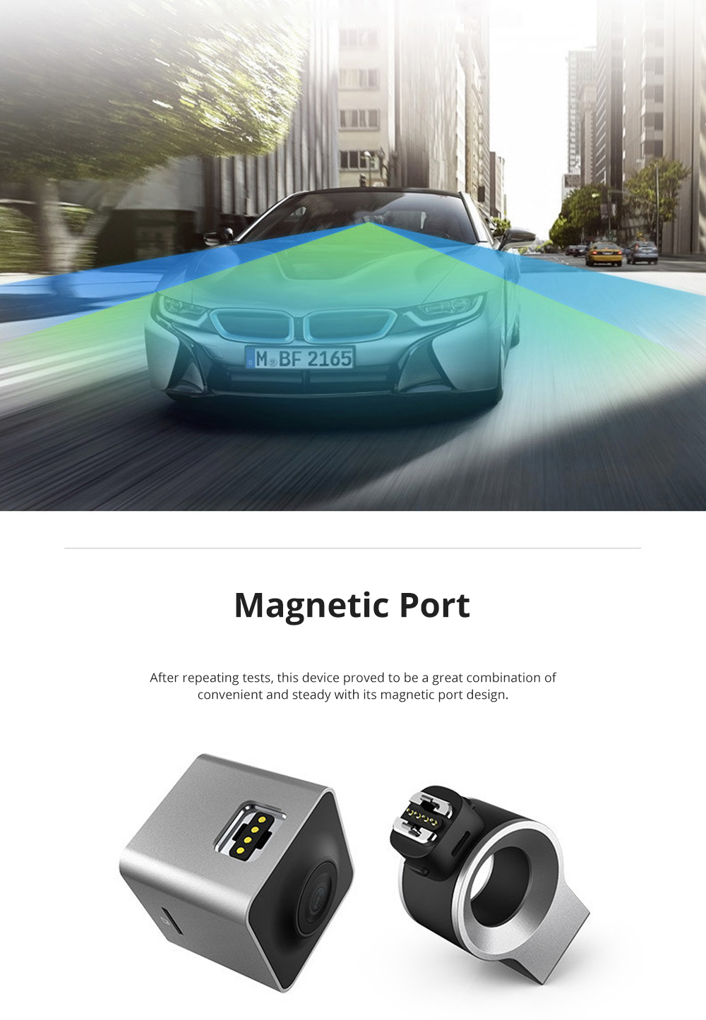 ROCK Multiple Functional Panorama HD 24 Hours Car DVR Smart Night Vision Automobile Data Recorder Monitoring GPS Speed Detection Recorder 6