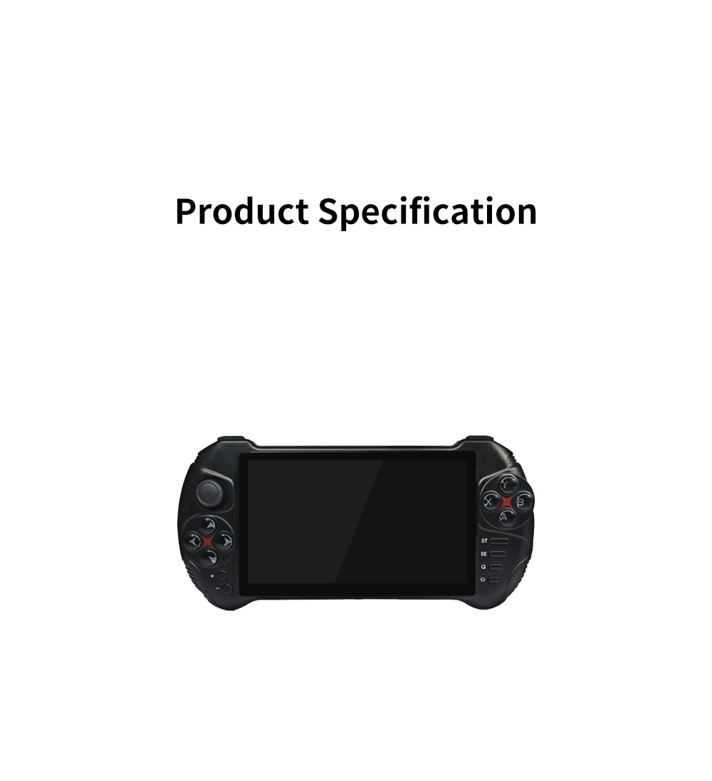PowKiddy X15 PSP Compatible for Android Portable Double Player Arcade Analog Stick Black Play Station DC/ONS/NGP/MD 12
