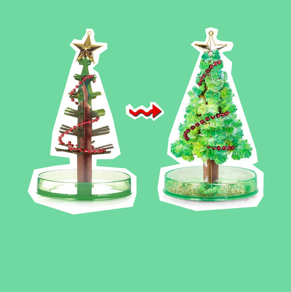 Magic Christmas Tree Paper Flower for kindergarten Children Fancy Self-made Pretty Xmas Tree Decoration Perfect Present for Kids 1