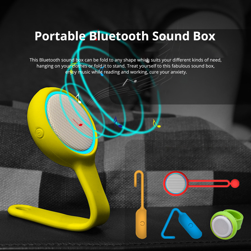 MiLi M80 Bluetooth Wearable Sound Box with Changeable Appearance for Both Home Use & Ourdoor activities Portable Mini-sized Voice Box Perfect Present 0