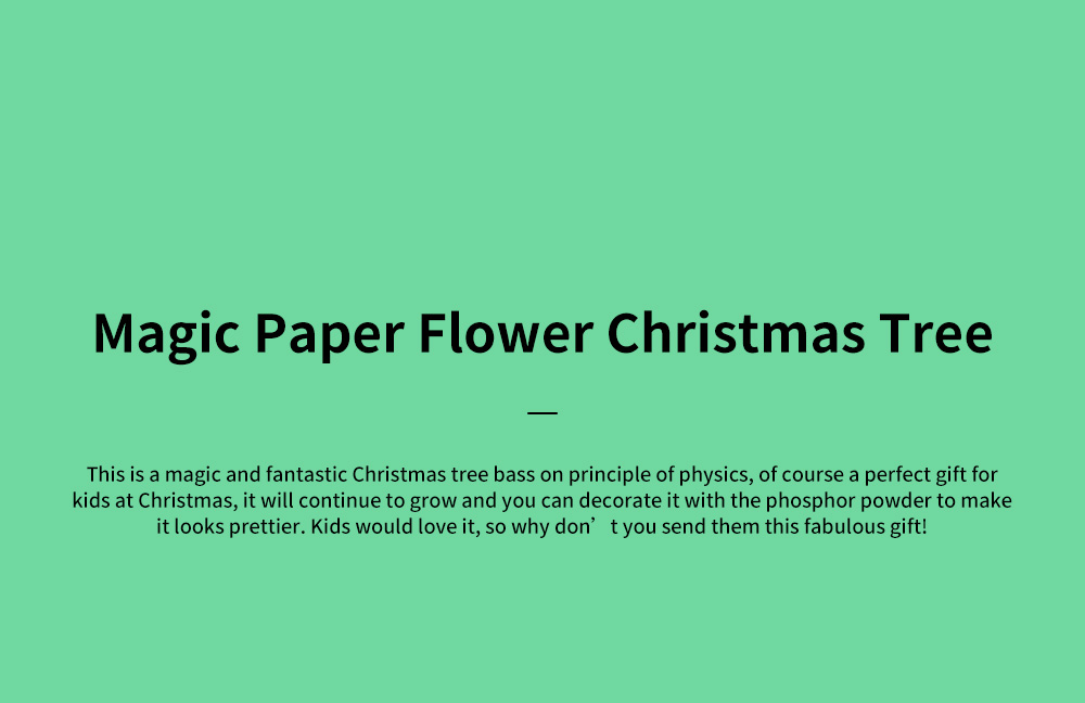 Magic Christmas Tree Paper Flower for kindergarten Children Fancy Self-made Pretty Xmas Tree Decoration Perfect Present for Kids 0