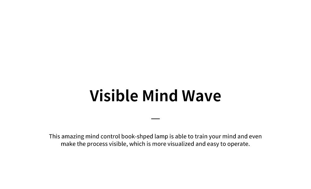 Creative LED Light Mind Controlling Folding Book-shaped Lamp Bedroom Book Reading Night Lamp Visual Brain Wave Control Book Light 2