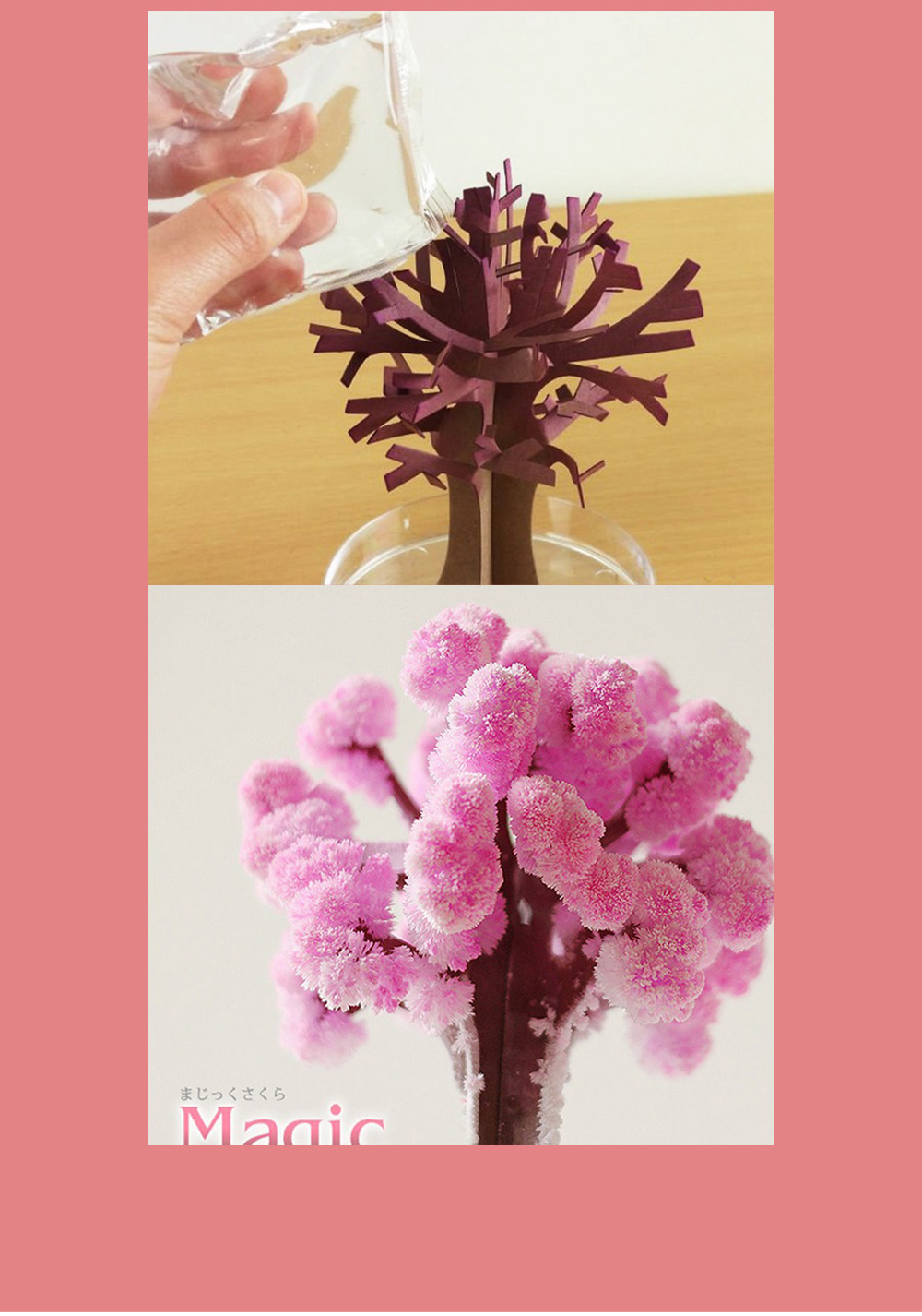Magic Christmas Tree Paper Flower for kindergarten Children Fancy Self-made Pretty Xmas Tree Decoration Perfect Present for Kids 7
