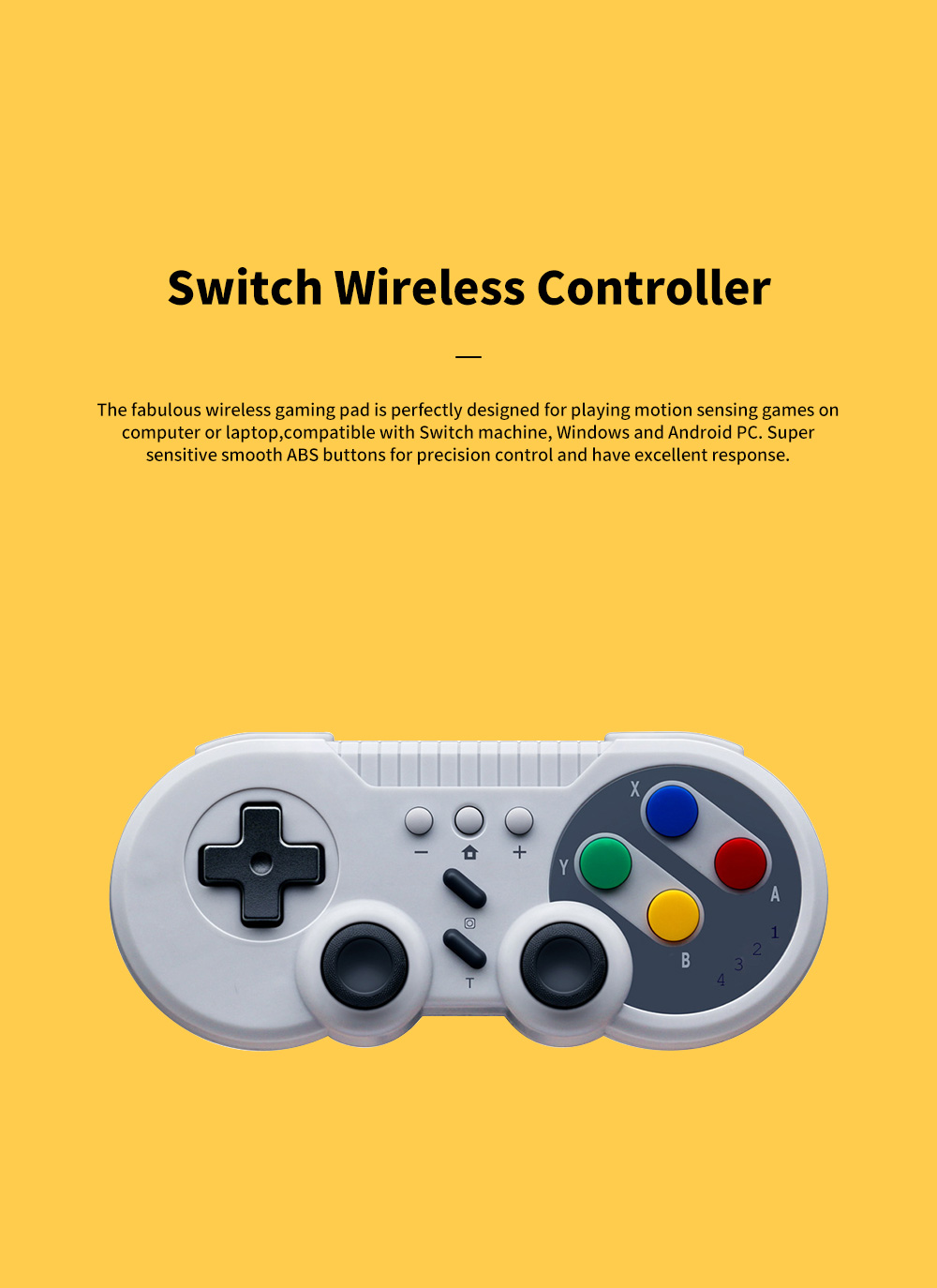 Switch Lite Pro Xbox 360 PS4 Offwhite Wireless Bluetooth Gaming Joypad Light Weight Motion Sensing Games Joystick Controller 0