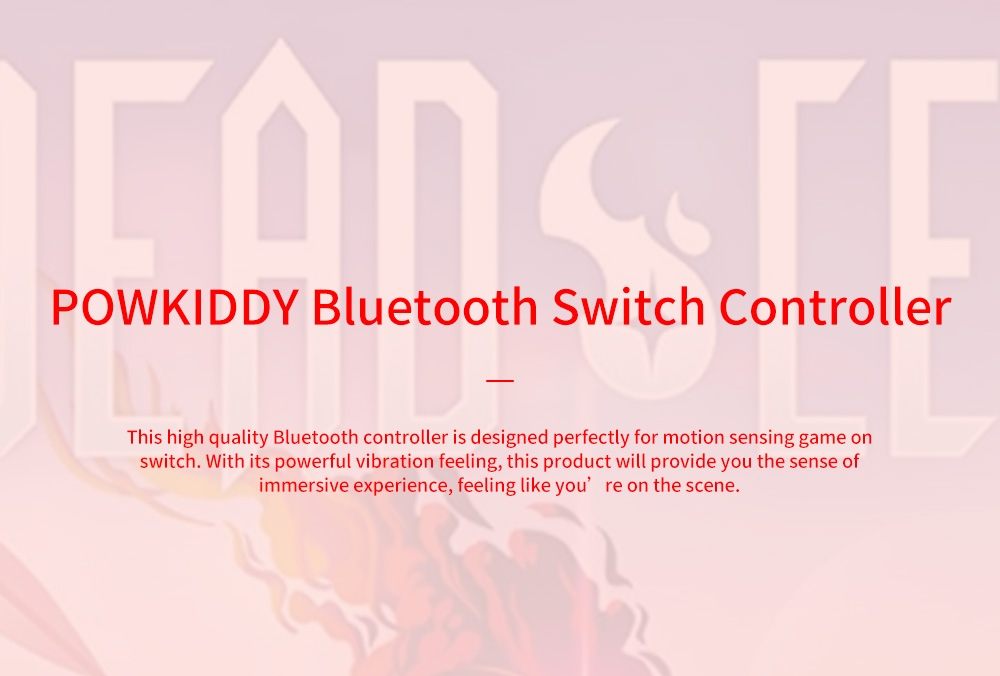 POWKIDDY Bluetooth Wireless Gaming Stick NSJoy-Con for Motion Sensing Game on Switch Left & Right Set Two Controllers Blue Red 0