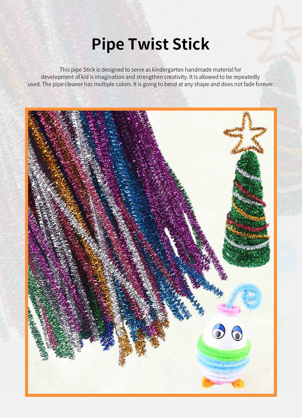 100PCS Colorful Pipe Stick for Kindergarten Handmade Material Mixed Colorful Pipe Twist DIY Cyclic Wave Crooked Stick 0