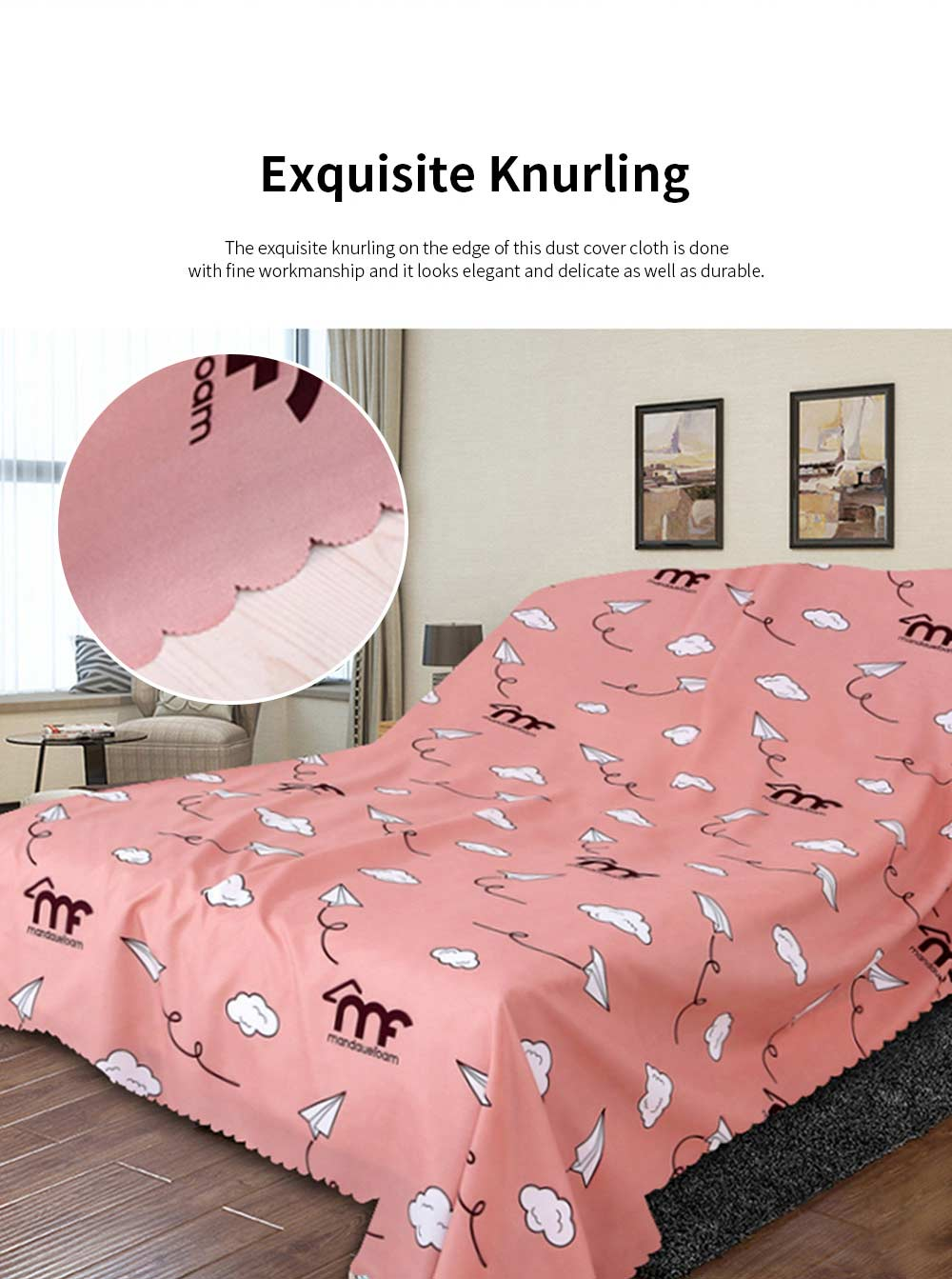 Pure Dust Cover for Family Use Fashionable Durable Dust Cloth Large Size Dense Dust Cover Cloth Dedusting Covers 7