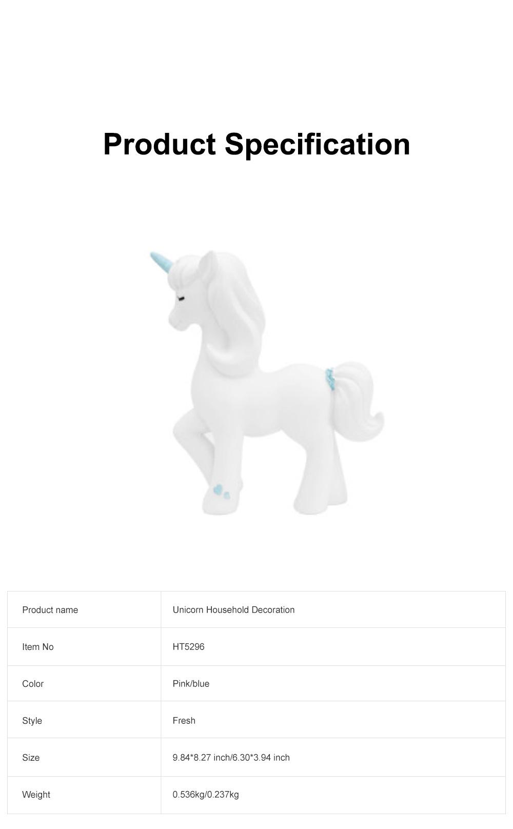 Crafts Unicorn Decoration Delicate Household Decorative Resin Unicorn for Living Room Bedroom Showcase 5