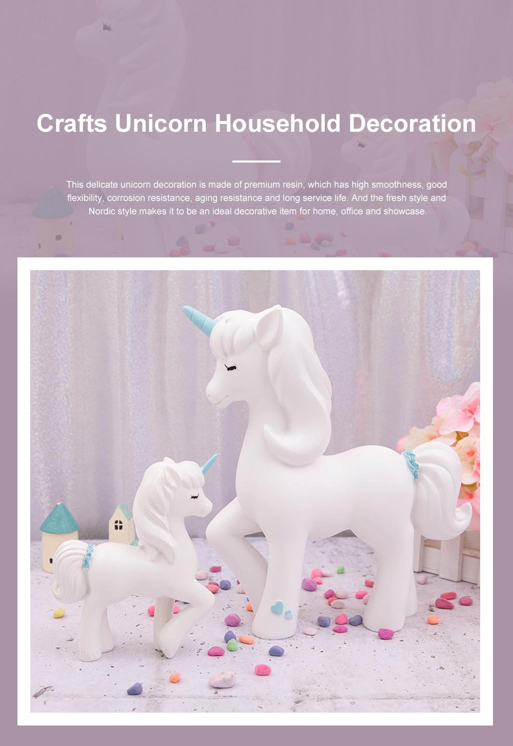 Crafts Unicorn Decoration Delicate Household Decorative Resin Unicorn for Living Room Bedroom Showcase 0