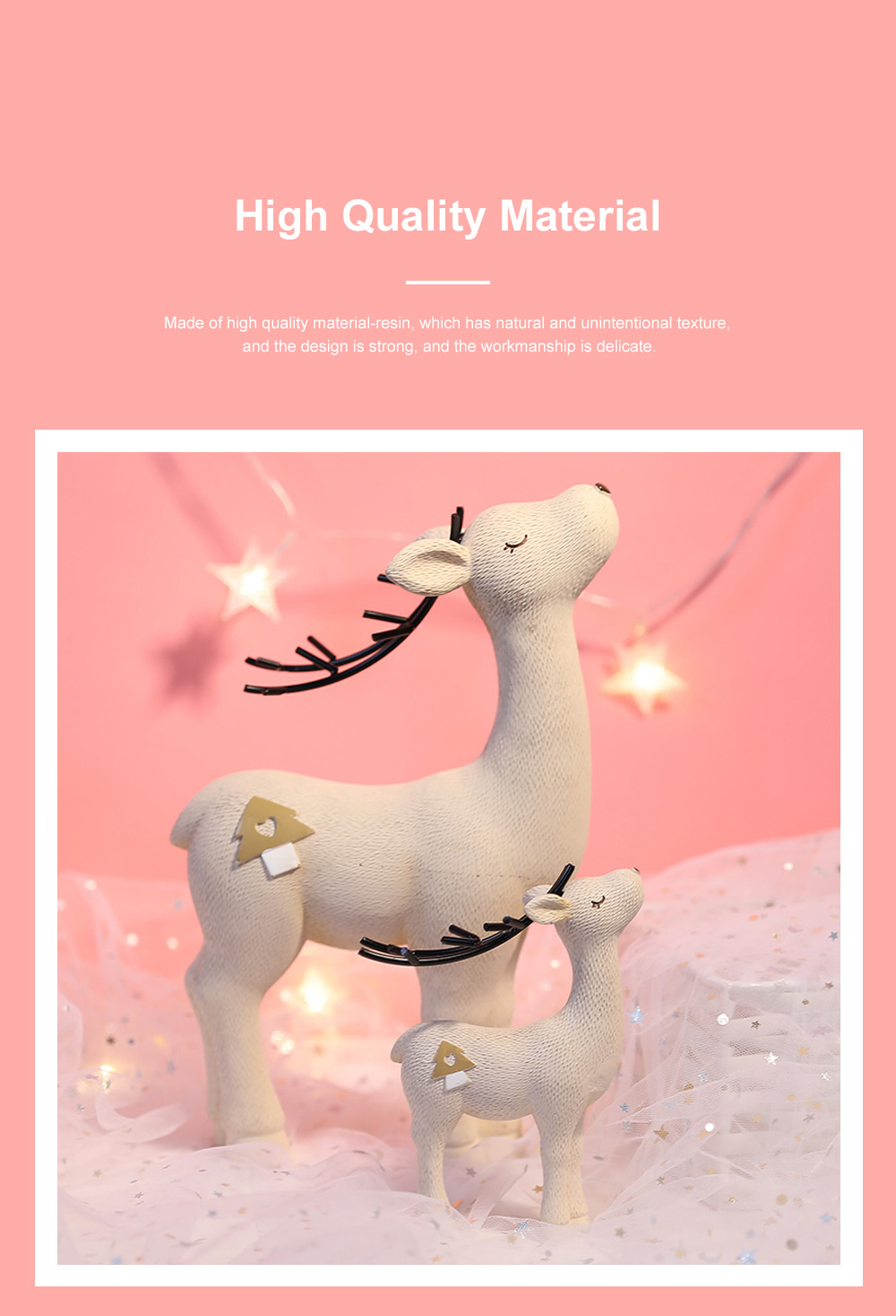 Crafts Decorative Deer Nordic Style Resin Deer Household Decoration for Living Room Bedroom and Office Decoration 4