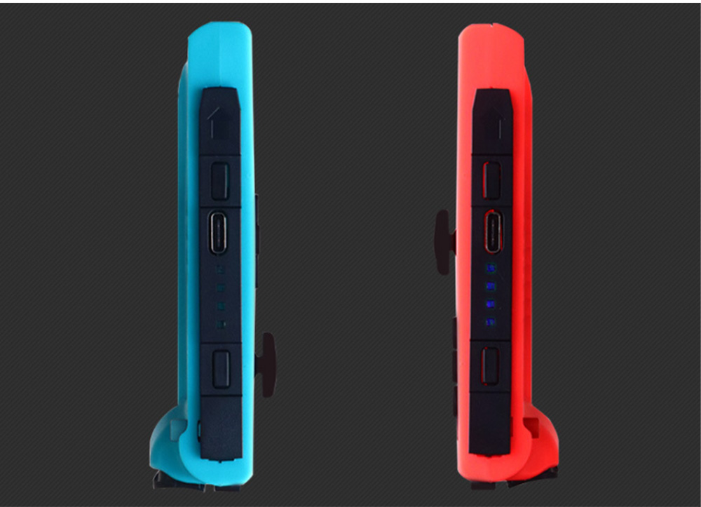 POWKIDDY Bluetooth Wireless Gaming Stick NSJoy-Con for Motion Sensing Game on Switch Left & Right Set Two Controllers Blue Red 9