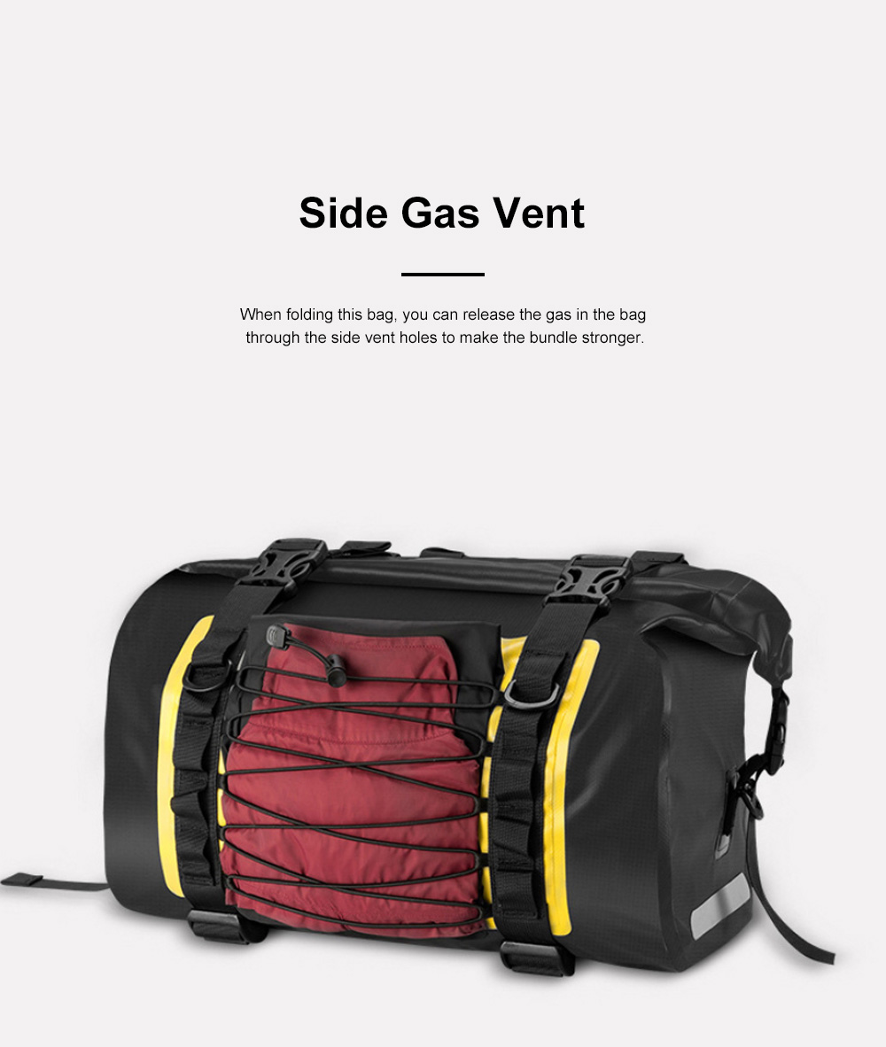 ROCKBROS Motorcycle Backseat Bag Portable Waterproof Large Capacity Functional Motorcycle Traveling Baggage Luggage Bag Pack Riding Accessories 6