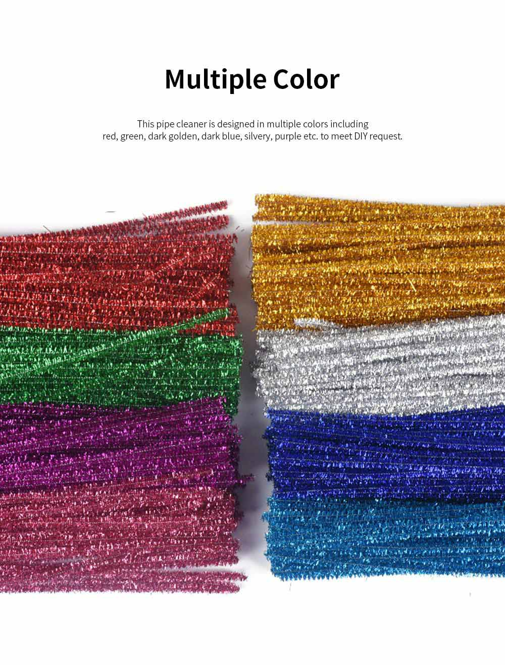 100PCS Colorful Pipe Stick for Kindergarten Handmade Material Mixed Colorful Pipe Twist DIY Cyclic Wave Crooked Stick 4