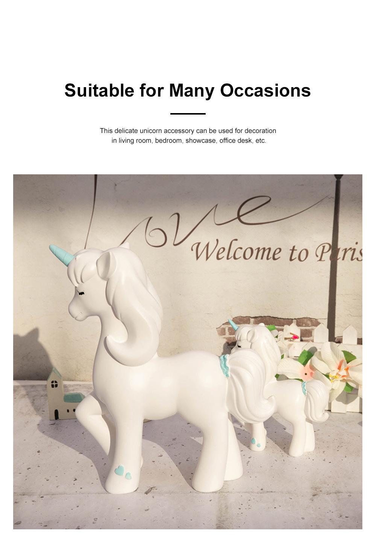 Crafts Unicorn Decoration Delicate Household Decorative Resin Unicorn for Living Room Bedroom Showcase 1