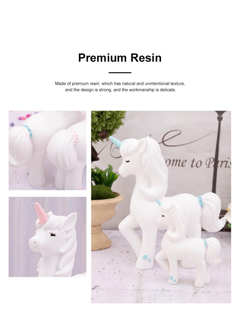 Crafts Unicorn Decoration Delicate Household Decorative Resin Unicorn for Living Room Bedroom Showcase 3