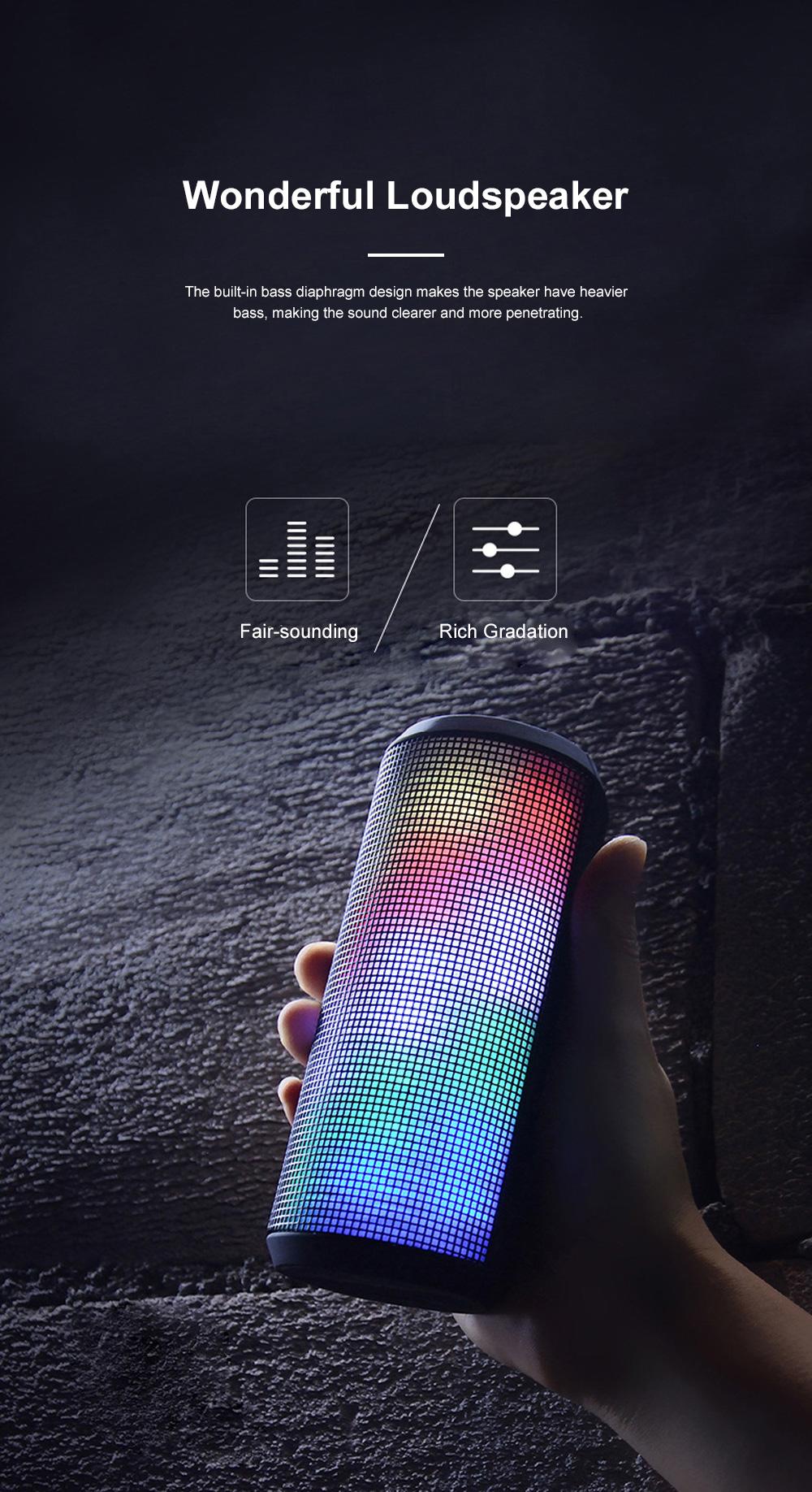 T900 Mini Multifunctional Portable Long Endurance Wireless Bluetooth Loudspeaker Box Speaker with Fantasy Light Effects 3