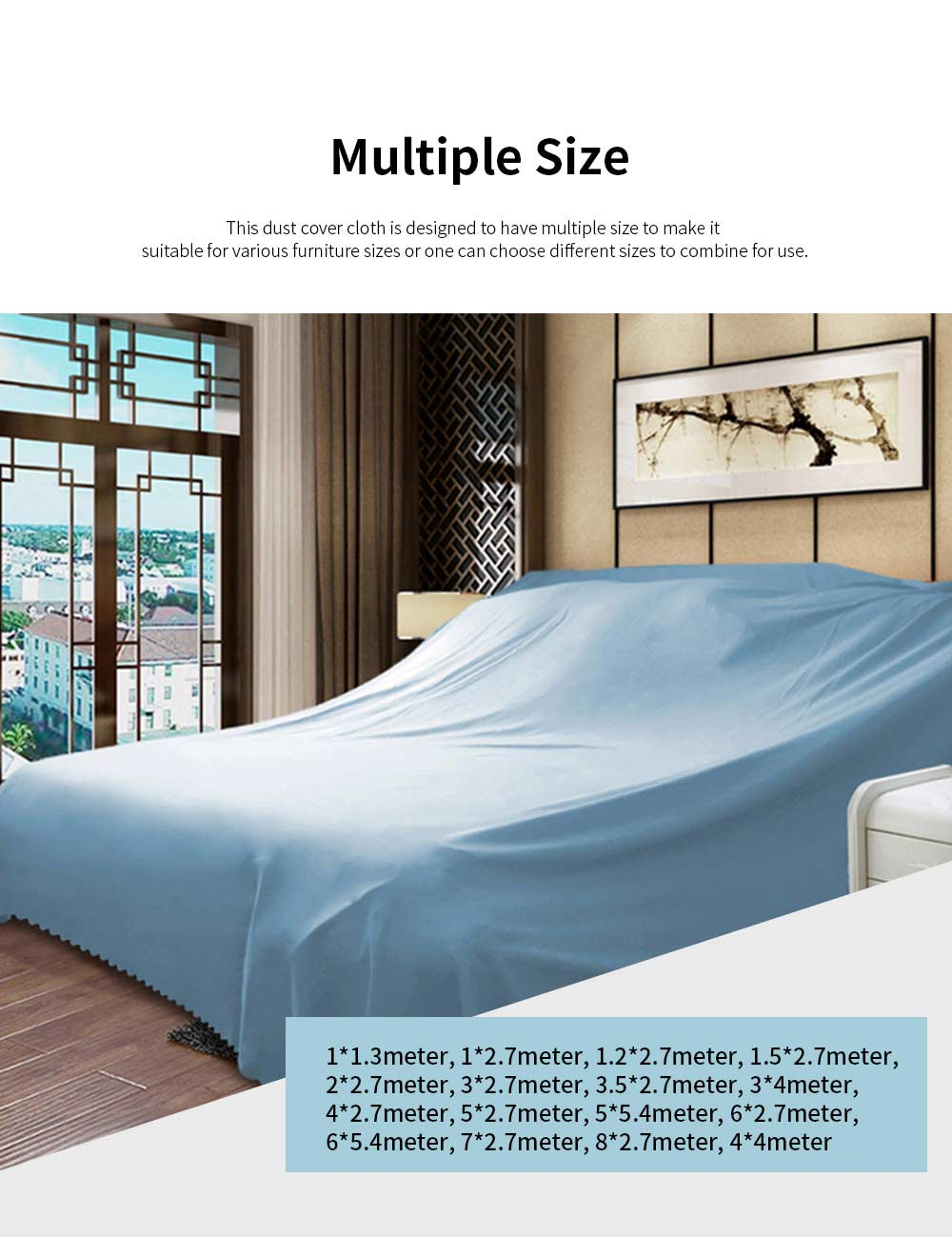 Pure Dust Cover for Family Use Fashionable Durable Dust Cloth Large Size Dense Dust Cover Cloth Dedusting Covers 2