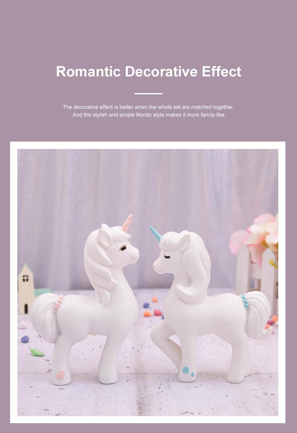 Crafts Unicorn Decoration Delicate Household Decorative Resin Unicorn for Living Room Bedroom Showcase 4