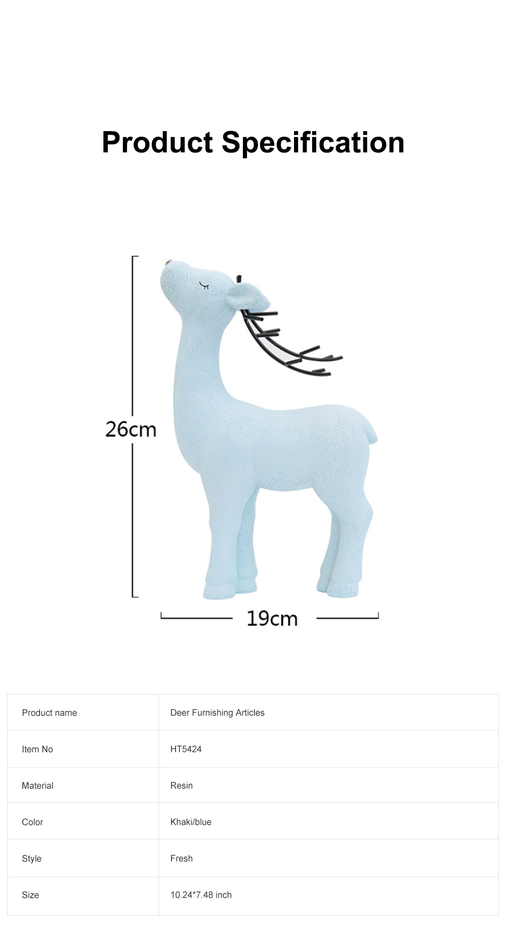 Crafts Decorative Deer Nordic Style Resin Deer Household Decoration for Living Room Bedroom and Office Decoration 5
