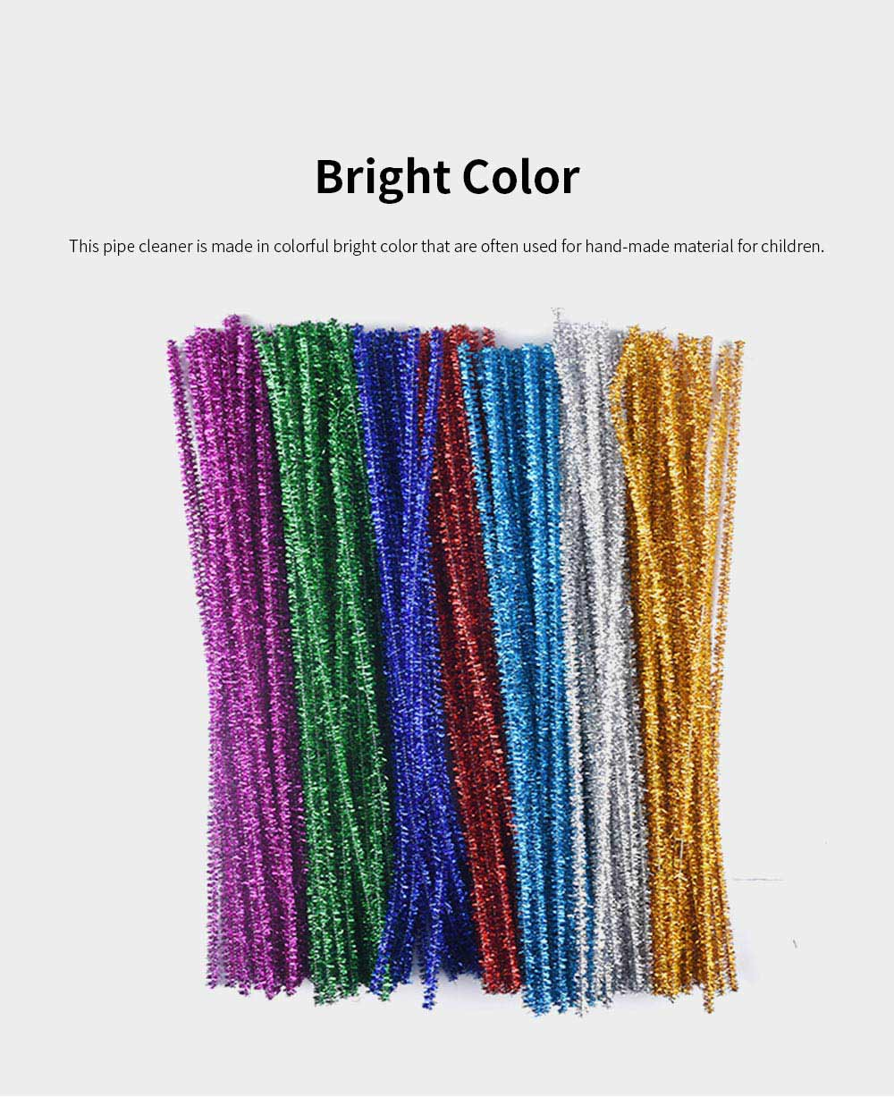100PCS Colorful Pipe Stick for Kindergarten Handmade Material Mixed Colorful Pipe Twist DIY Cyclic Wave Crooked Stick 2