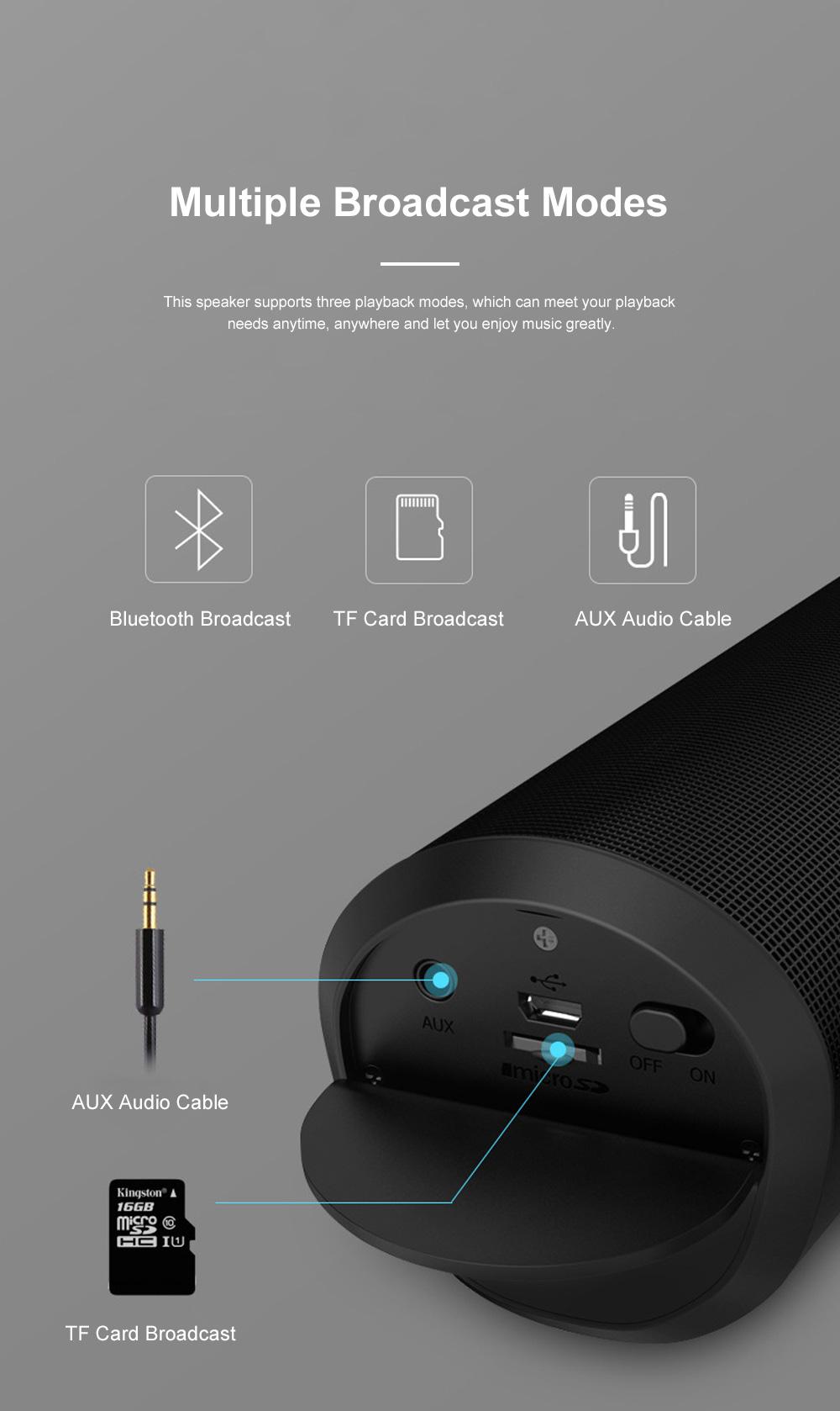 T900 Mini Multifunctional Portable Long Endurance Wireless Bluetooth Loudspeaker Box Speaker with Fantasy Light Effects 5