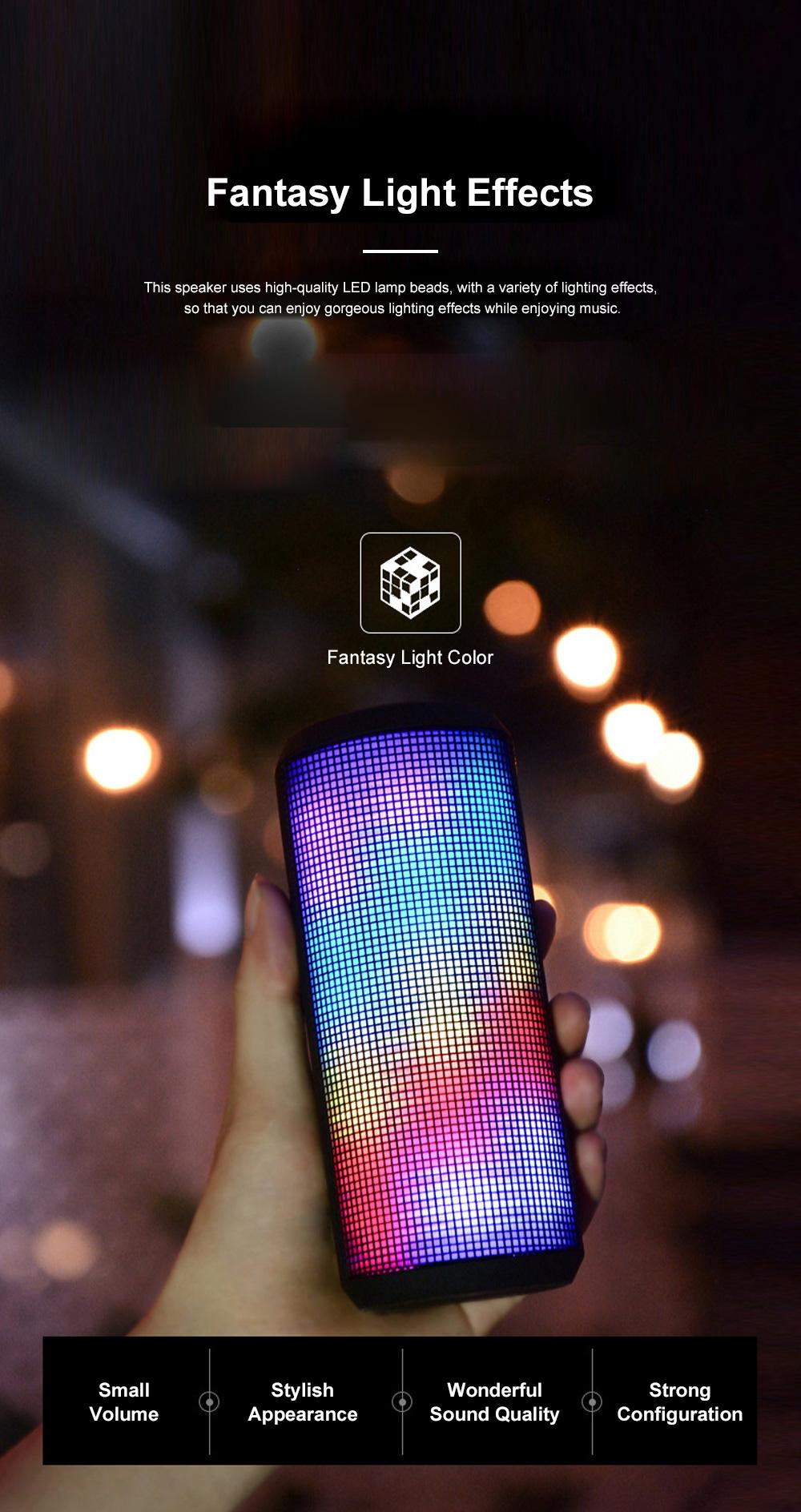 T900 Mini Multifunctional Portable Long Endurance Wireless Bluetooth Loudspeaker Box Speaker with Fantasy Light Effects 1