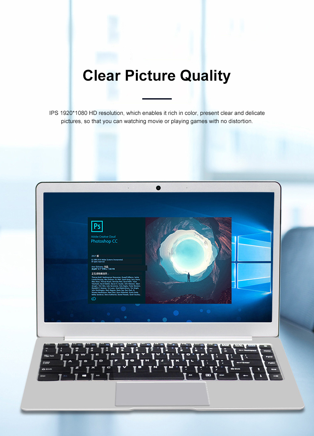 I4 Inch N3450 Laptop Intel Quad-Core ProBook with 1920*1080 HD Resolution Ultra Slim Notebook with Wide View Angle 5