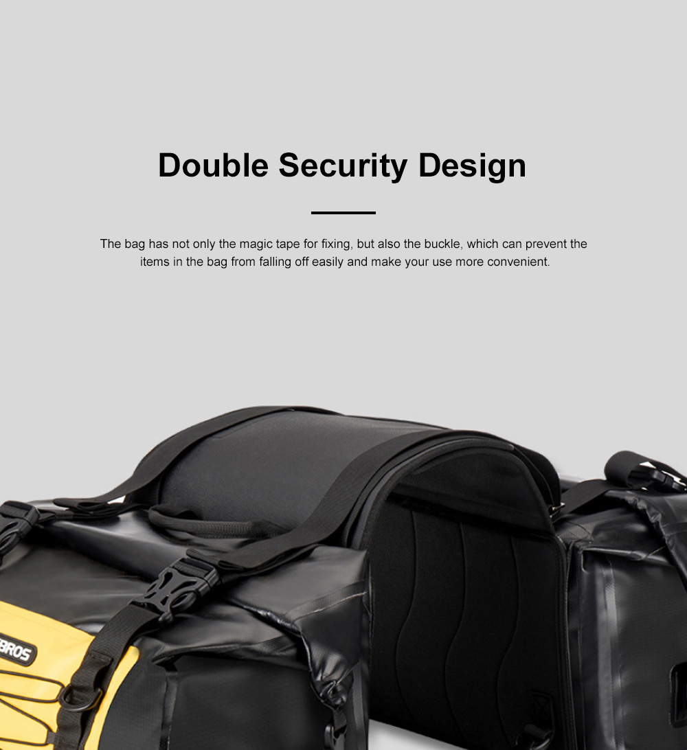 ROCKBROS Motorcycle Backseat Bag Portable Waterproof Large Capacity Functional Motorcycle Traveling Baggage Luggage Bag Pack Riding Accessories 8