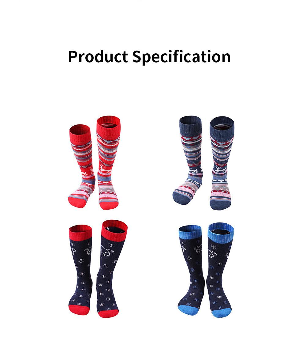 SANTO Ski Socks for Winter Outdoor Activities Thickened Cotton Socks Kids' Lightweight Thermal Socks Odor Resistant Socks 5