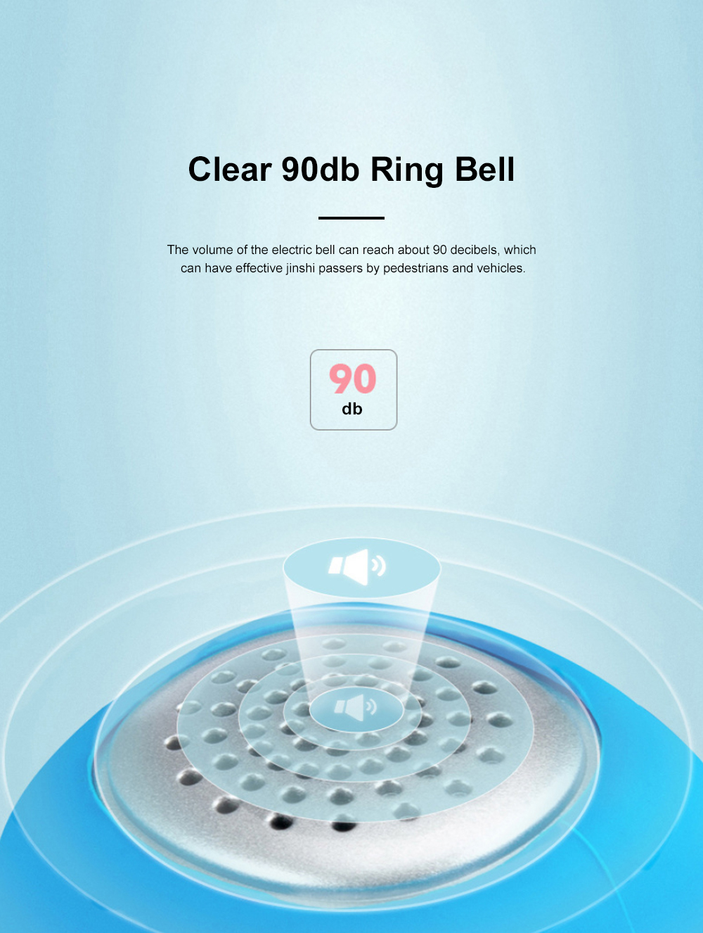 ROCKBROS Small Portable Waterproof Easy Installation Elastic Rubber Bicycle Bike Electronic Ring Bell Cycling Accessories 2