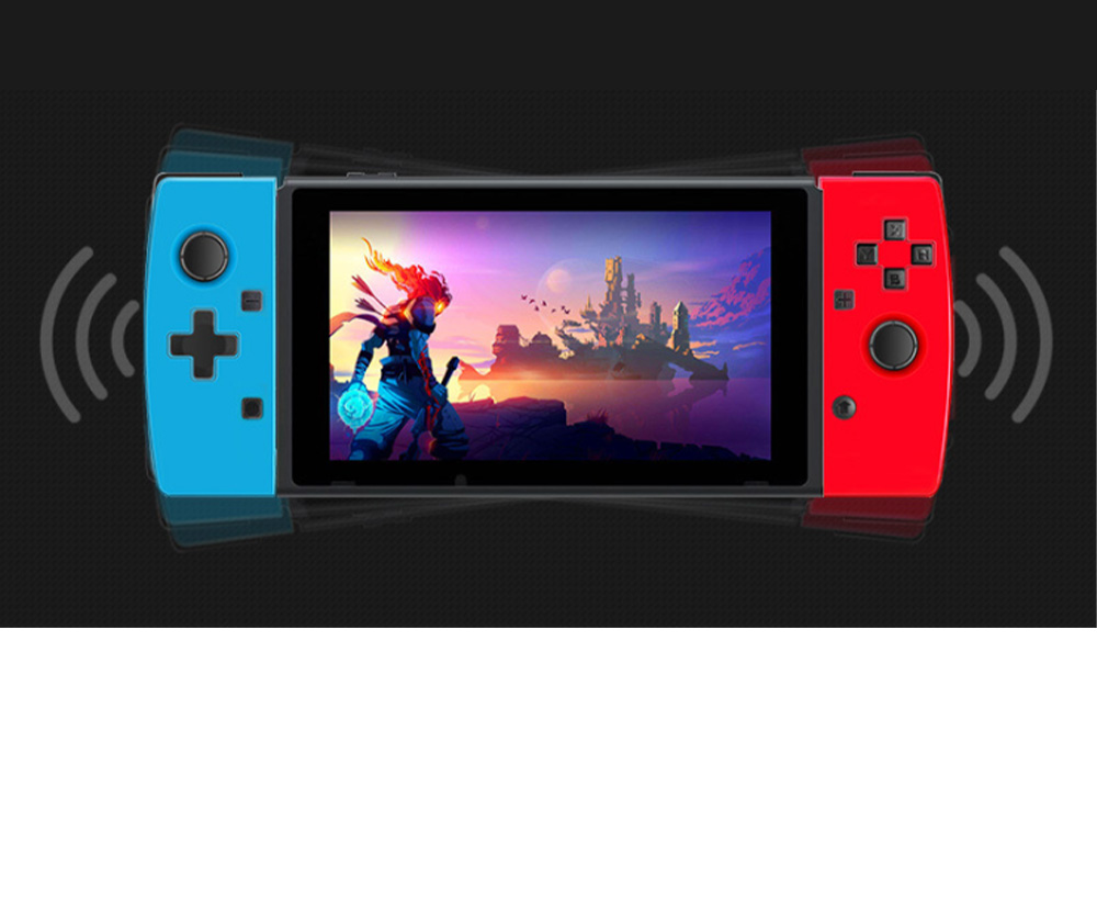 POWKIDDY Bluetooth Wireless Gaming Stick NSJoy-Con for Motion Sensing Game on Switch Left & Right Set Two Controllers Blue Red 5