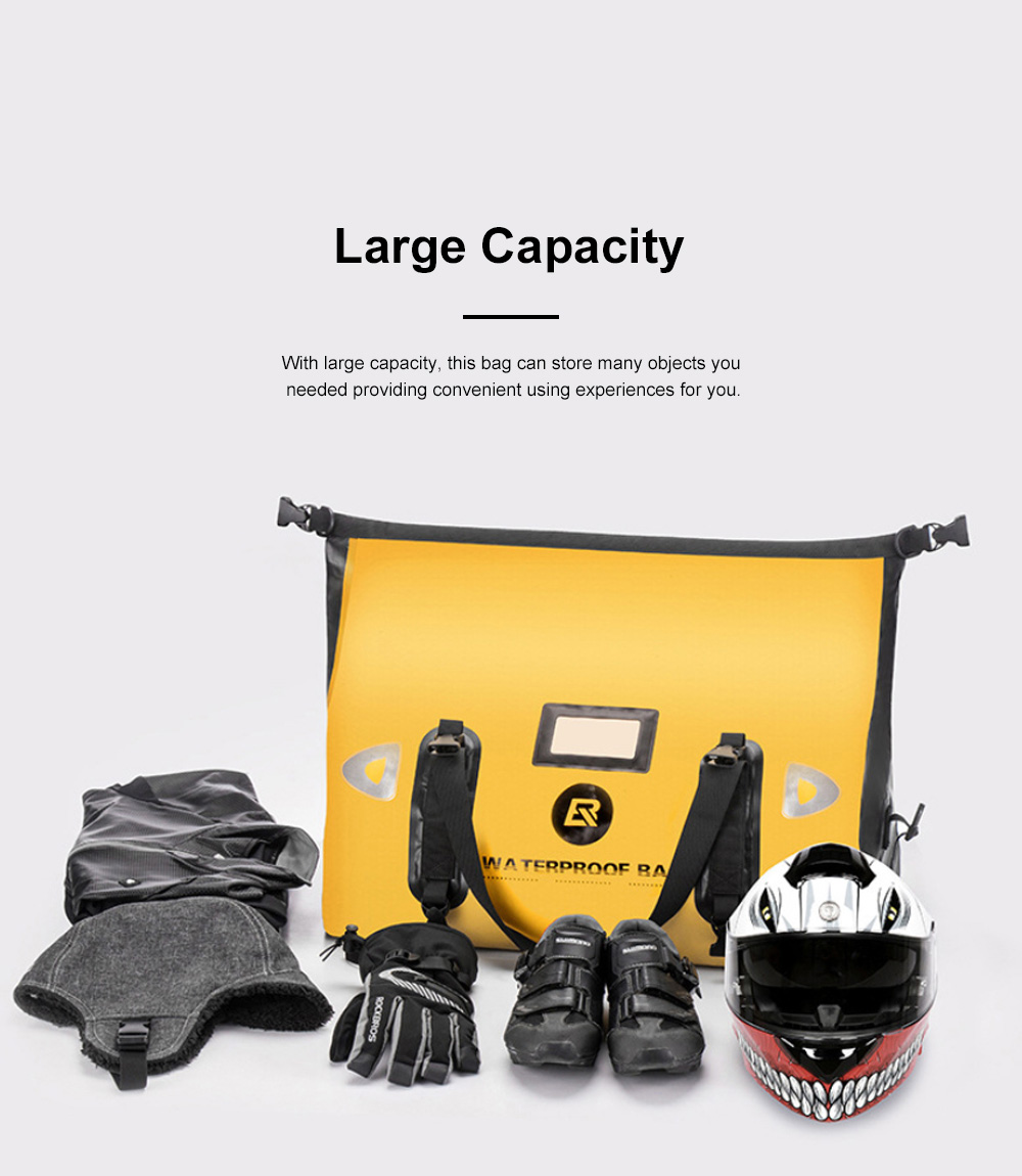 ROCKBROS Motorcycle Backseat Bag Portable Waterproof Large Capacity Functional Motorcycle Traveling Baggage Luggage Bag Pack Riding Accessories 2