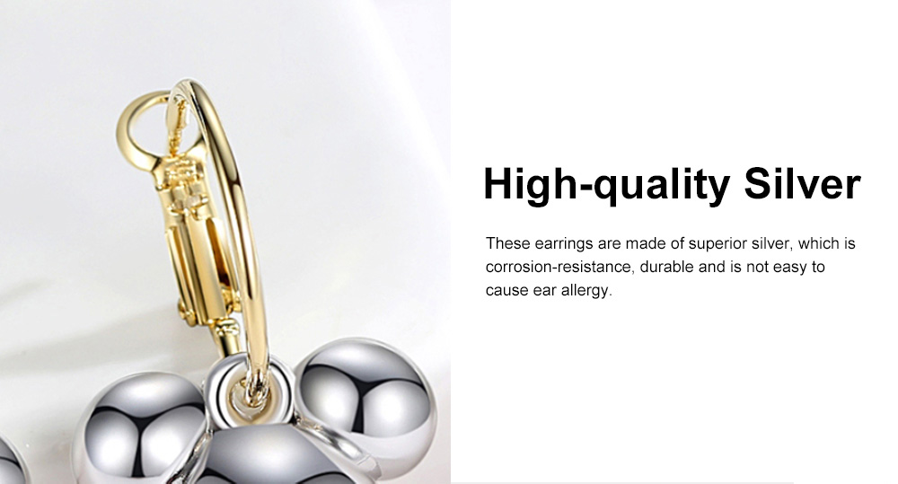CAROMAY Minimalist Stylish Fashionable Cartoon Cute Mouse Model Silver Earrings Eardrops with Electroplating Coating 3