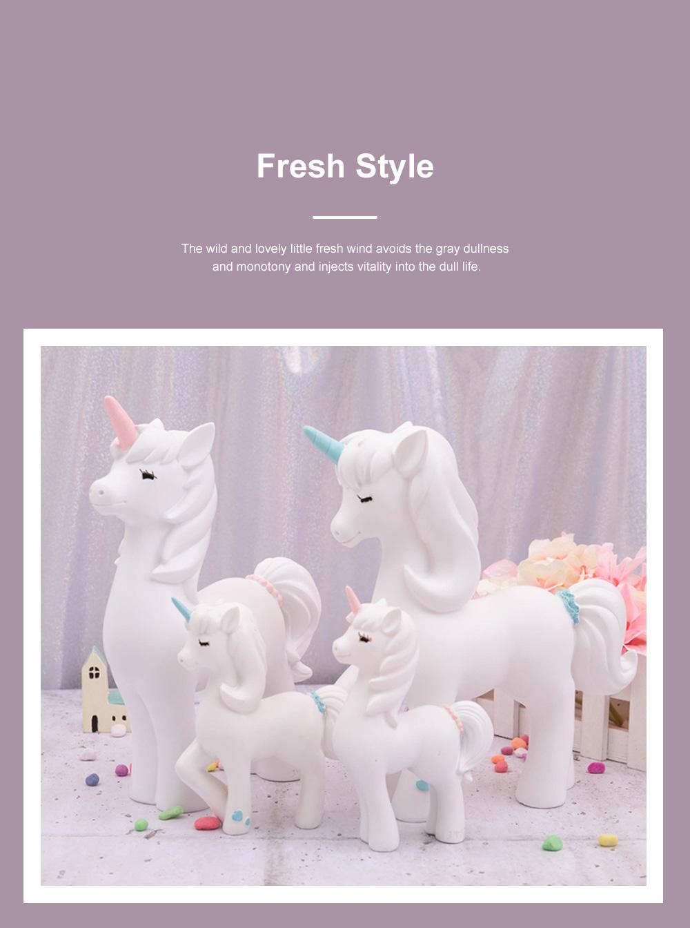 Crafts Unicorn Decoration Delicate Household Decorative Resin Unicorn for Living Room Bedroom Showcase 2