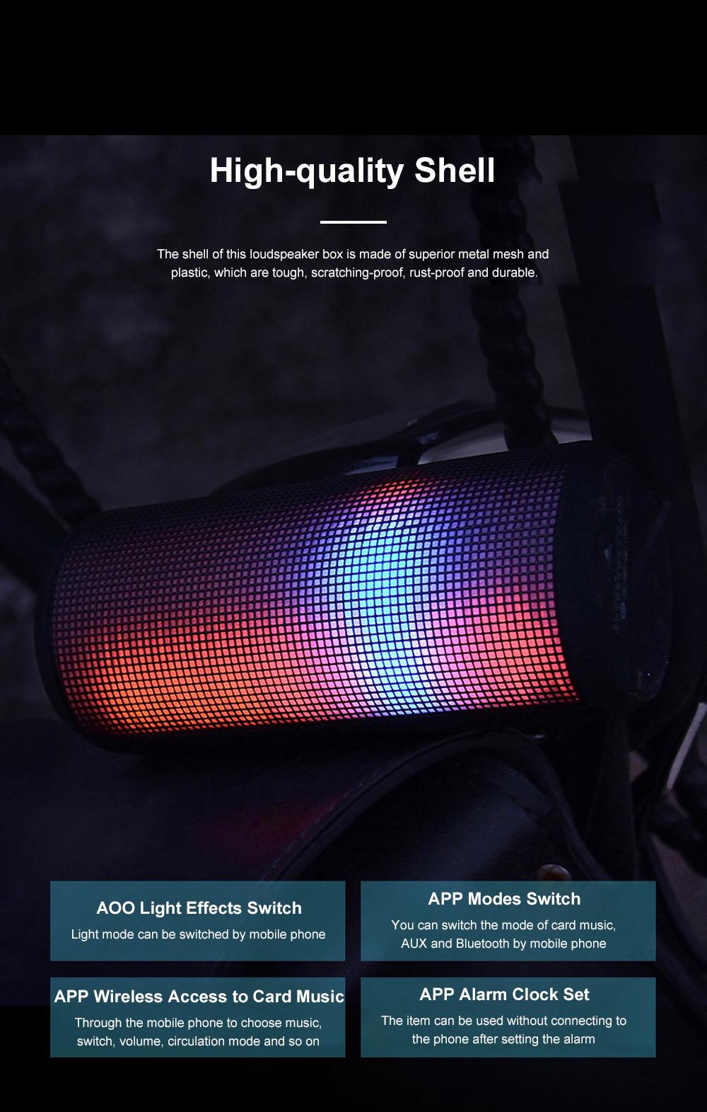 T900 Mini Multifunctional Portable Long Endurance Wireless Bluetooth Loudspeaker Box Speaker with Fantasy Light Effects 8
