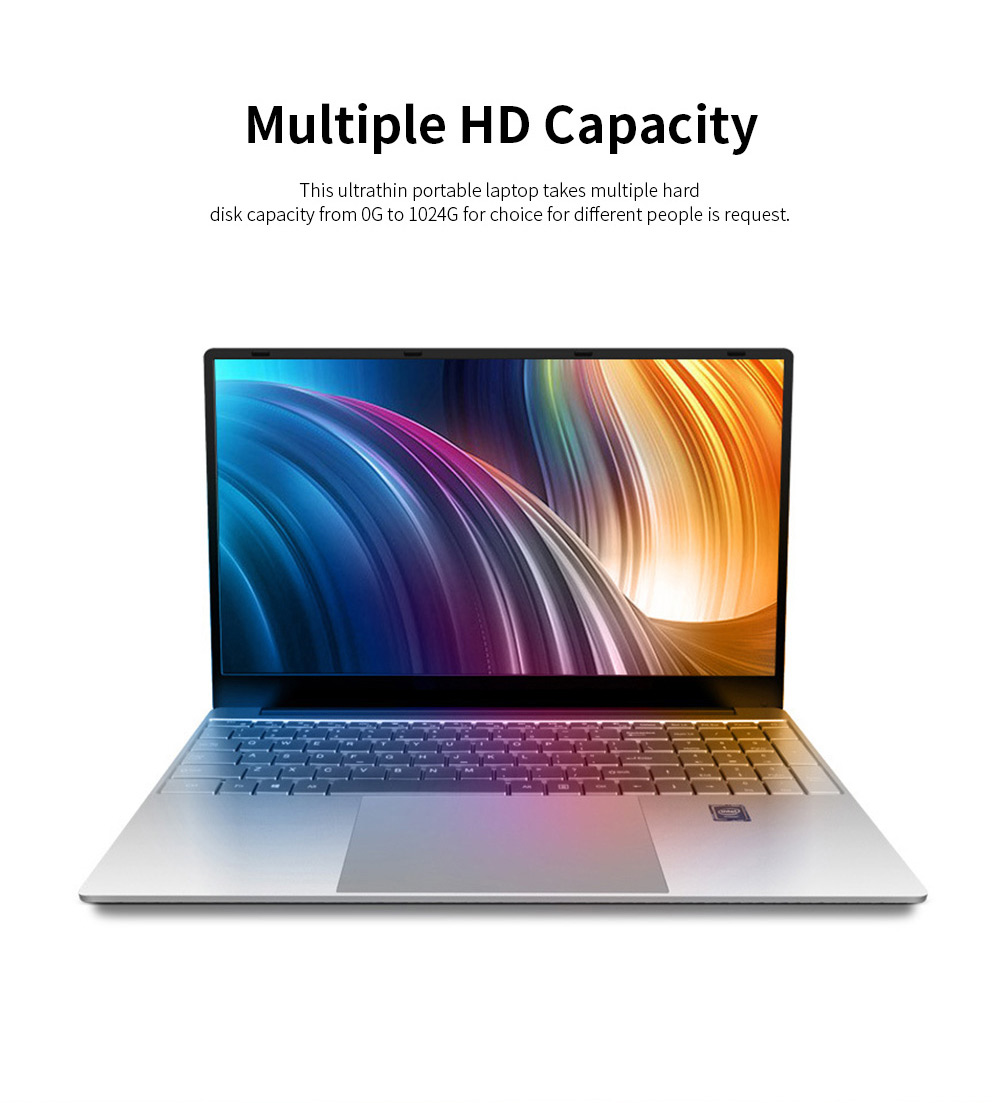 Ultrathin Portable 15.6 Inch I3 I5 I7 Laptop for Business Entertainment Brand New Core Processer Notebook Computer High-performed Laptop 2