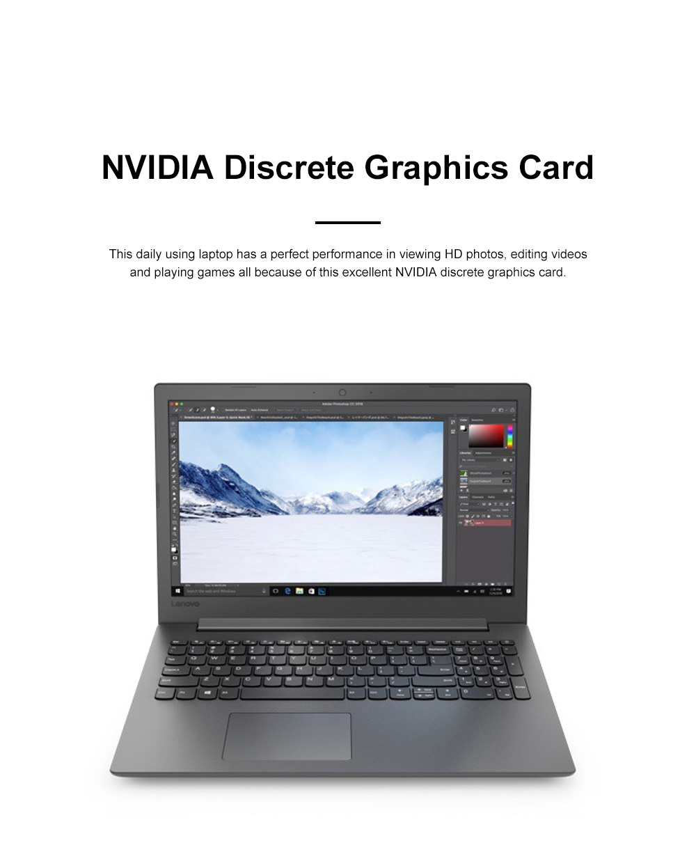Lenovo 2020 New Business 15.6 Inch Laptop Computer 330-C- Core i5-8250U 1T+128G Gaming Video Probook 1