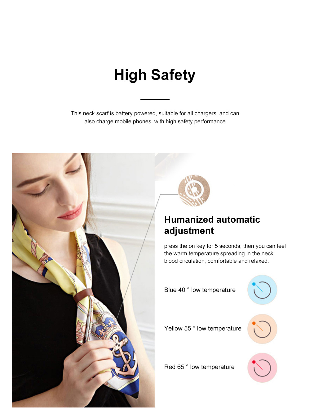FLEXWARM Simulated Silk Intelligent Neck Protection Women's Silk Scarf Hot Short Style Versatile Scarf in Autumn and Winter 1