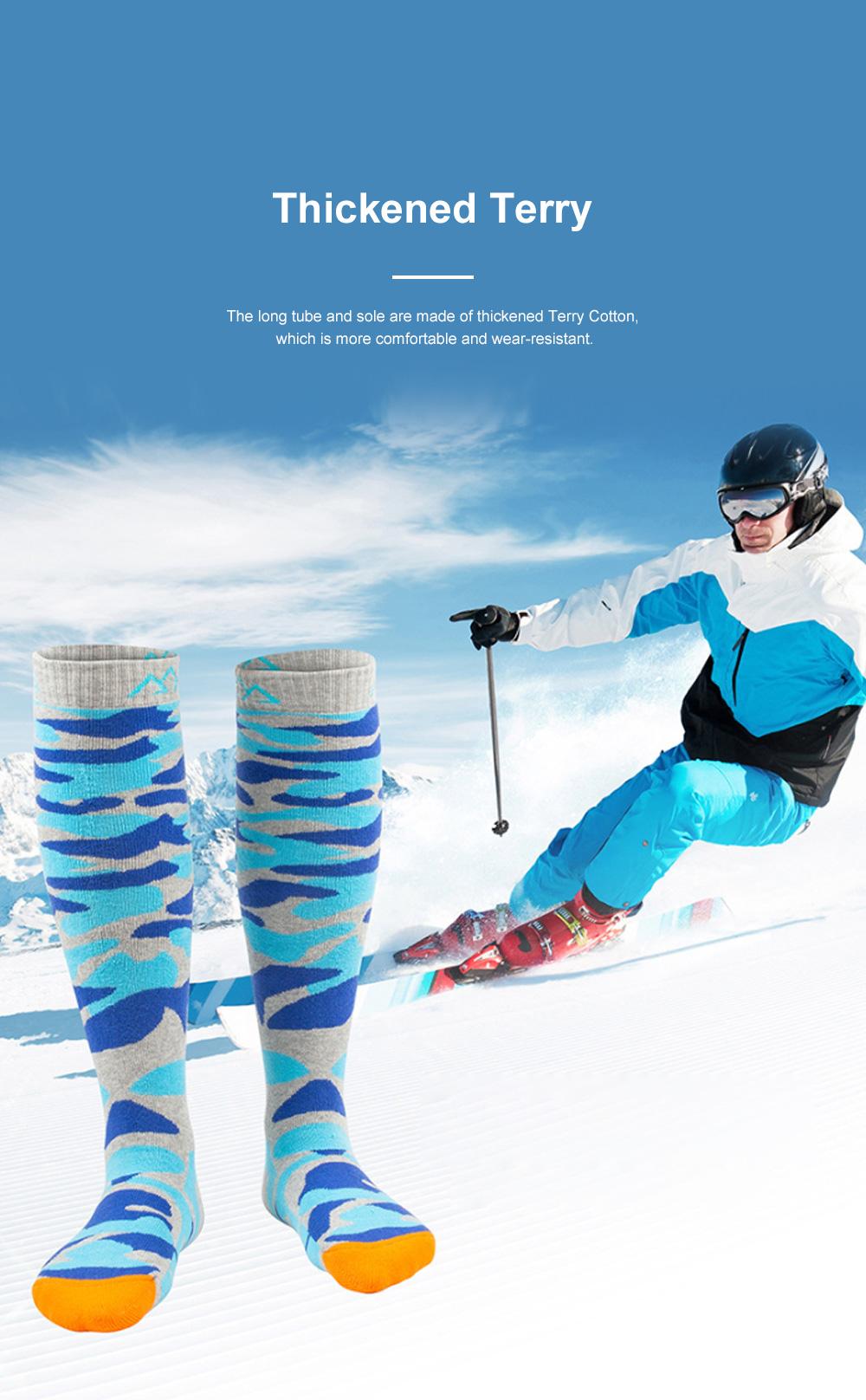 SANTO Outdoor Socks Winter Warm Ski Socks Sports Socks Sweat Absorbing Thickening Socks Long Hiking Socks 2