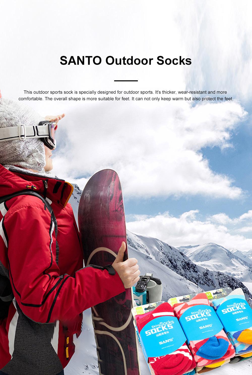 SANTO Outdoor Socks Winter Warm Ski Socks Sports Socks Sweat Absorbing Thickening Socks Long Hiking Socks 0