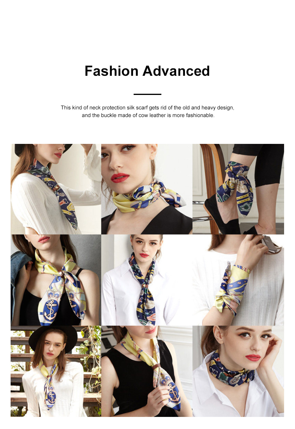 FLEXWARM Simulated Silk Intelligent Neck Protection Women's Silk Scarf Hot Short Style Versatile Scarf in Autumn and Winter 5