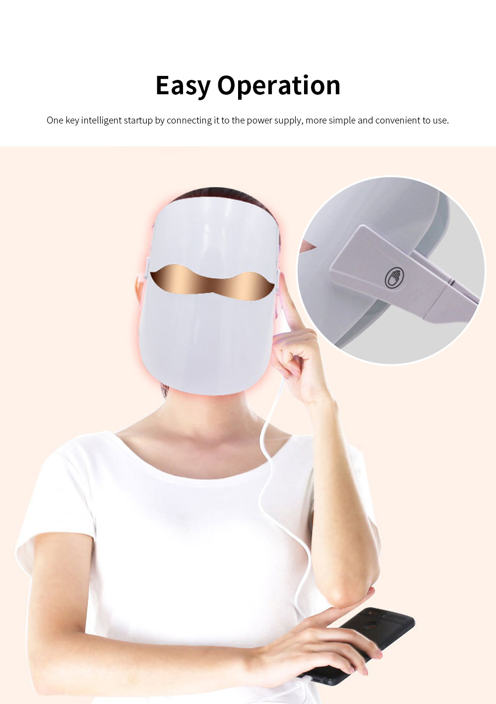 Spectrum Skin Care Mask 32 LED Face Mask with Triple Spectrum Technology for Skin Care Anti Aging Skin Tightening 6